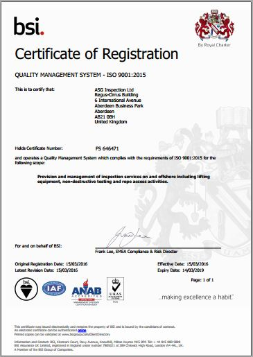 Quality Management System BSI certified